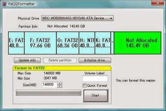 تحميل برنامج fat32formatter