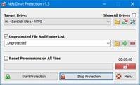 برنامج حمايه من الفيروسات لفلاشات اليو إس بى NTFS Drive Protection 1.54