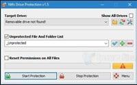 برنامج حمايه من الفيروسات لفلاشات اليو إس بى NTFS Drive Protection 1.5
