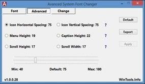 برنامج تغيير خط الويندوز Advanced System Font Changer 1.0.0.283