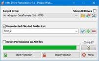 برنامج حمايه من الفيروسات لفلاشات اليو إس بى NTFS Drive Protection 1.52