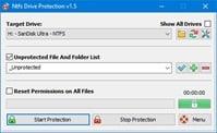 برنامج حمايه من الفيروسات لفلاشات اليو إس بى NTFS Drive Protection 1.55