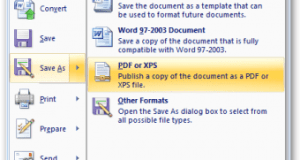 تحميل برنامج Microsoft Save as PDF or XPS