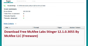 تحميل برنامج McAfee Labs Stinger