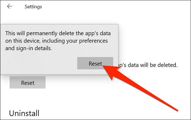 كيفية إعادة تعيين تطبيق الإعدادات في نظام التشغيل Windows 10