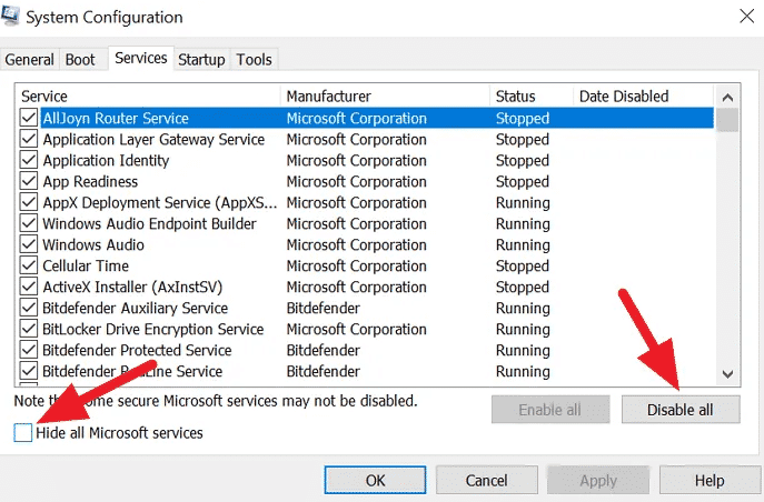 حل مشكله تعطل Task Manager أو يتجمد عند بدء التشغيل في نظام Windows 10