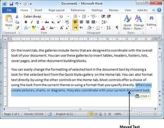 الجزء الخامس من تعلم كيفيه استخدام برنامج Word (مسح او نقل نص)