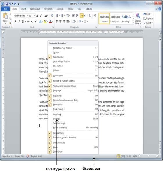 الجزء الرابع من تعلم كيفيه استخدام برنامج Word (ادراج و تحديد نص)