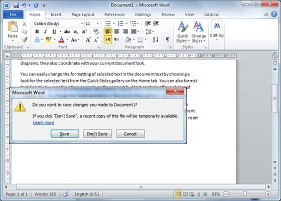 الجزء الثالث من تعلم كيفيه استخدام برنامج Word (فتح او اغلاق مستند)