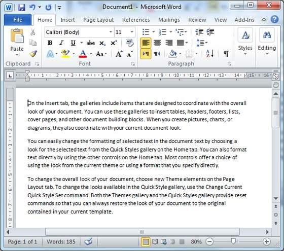الجزء الاول من تعلم كل ما يخص برنامج Word (ادخال نص و التنقل داخل Word)