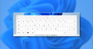كيفية تغيير حجم لوحة المفاتيح التي تعمل باللمس على نظام التشغيل Windows 11